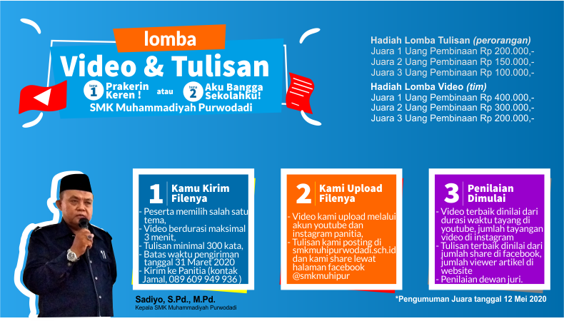 SMK Muhammadiyah Purwodadi Lomba Video dan Tulisan