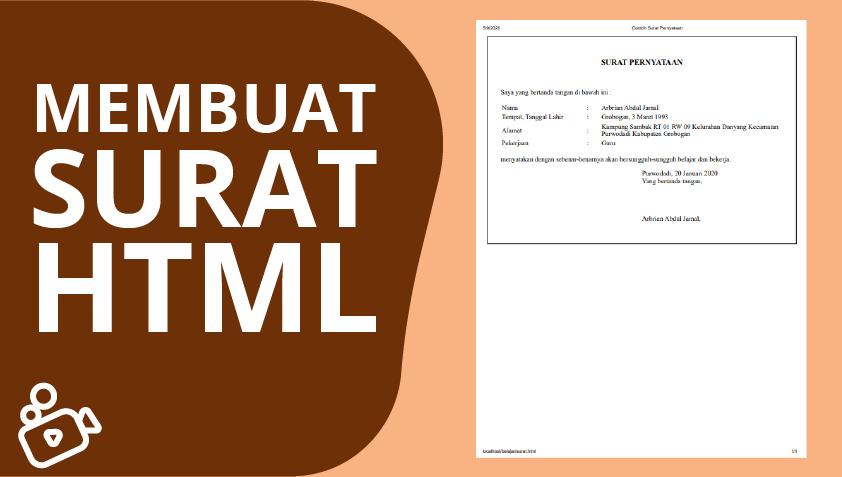 Membuat Surat HTML