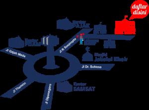 Peta SMK Muhammadiyah Purwodadi