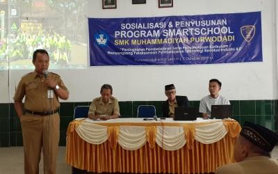 Sosialisasi dan Penyusunan Program Smartschool SMK Muhammadiyah Purwodadi