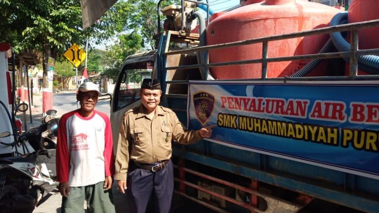 Penyaluran Bantuan Air Bersih SMK Muhammadiyah Purwodadi